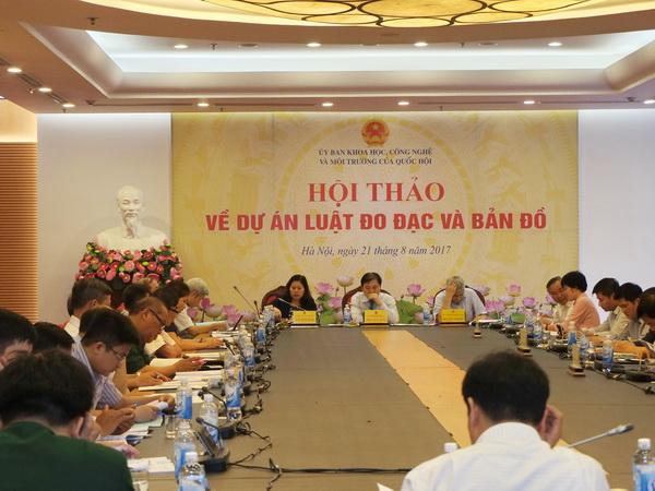 Hội thảo về dự án Luật đo đạc và bản đồ