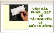 Công bố Danh mục VBPL do Bộ Tài nguyên và Môi trường ban hành và liên tịch ban hành hết hiệu lực thi hành