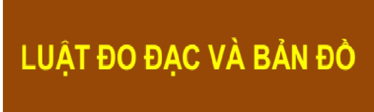 Luat do dac va ban do